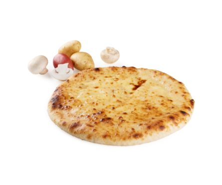 Постный пирог с картофелем и грибами