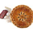 Пирог с мясом, грибами и сыром